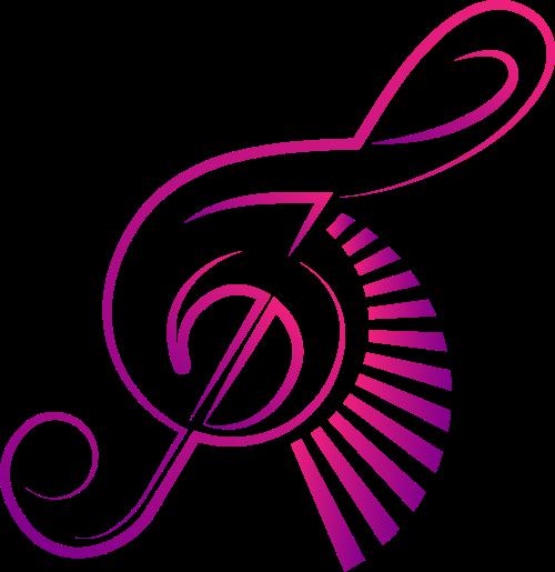 紫色音符矢量logo元素