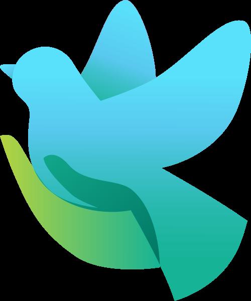 蓝色小鸟矢量logo矢量logo