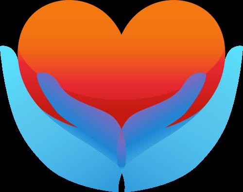 蓝色手心形矢量logo