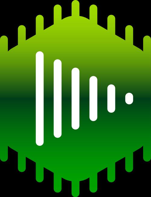 绿色视频音乐矢量logo