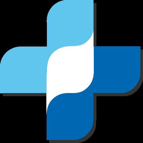 蓝色医疗矢量logo图标