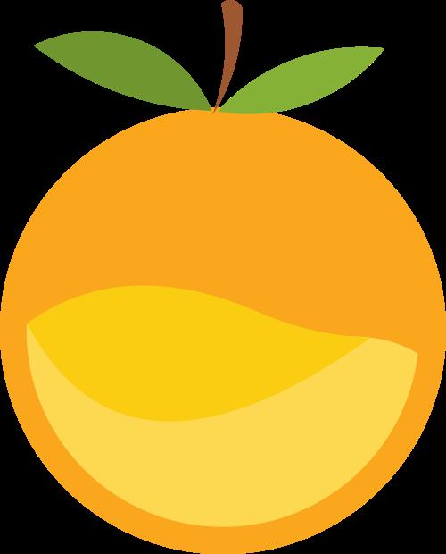 橙色水果矢量logo图标矢量logo