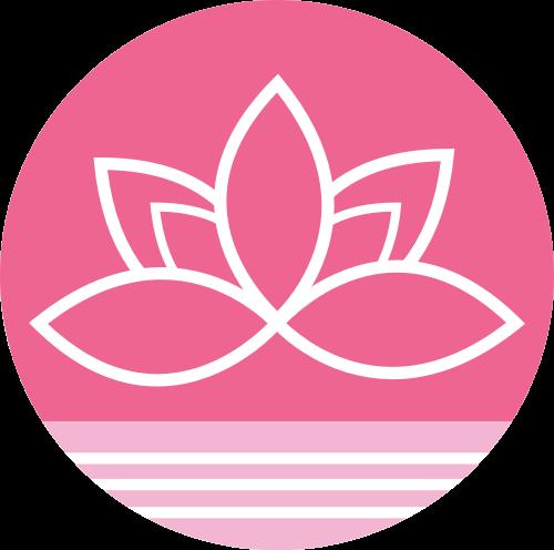 粉色圆形花朵矢量logo