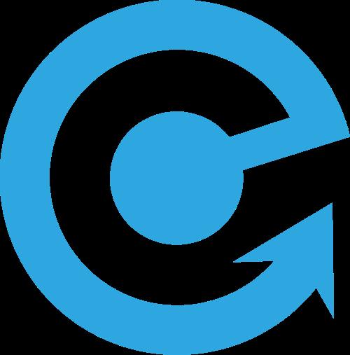 蓝色箭头矢量logo图标
