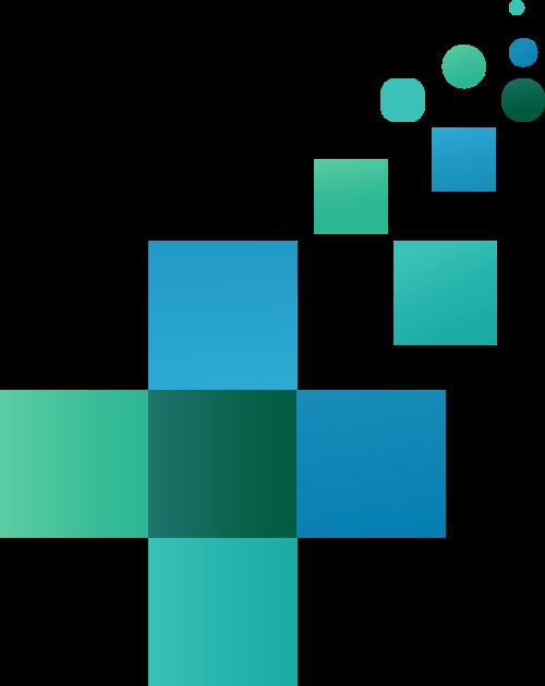 蓝绿色十字矢量logo元素
