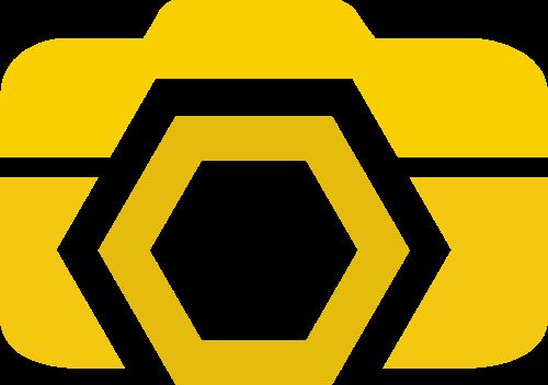 黄色照相机矢量logo