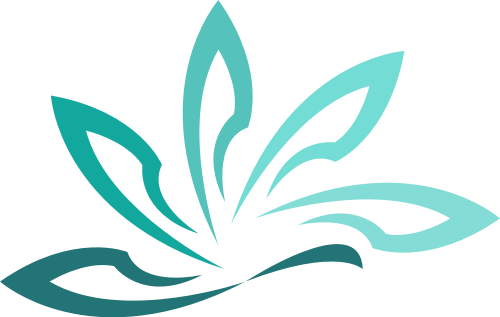 绿色花朵矢量logo元素