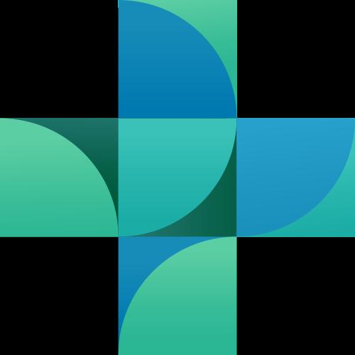 绿色十字科技矢量logo