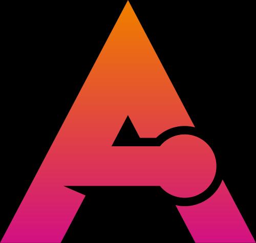 粉色字母A矢量logo元素