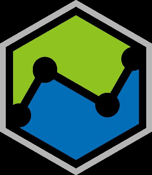 蓝绿色六边形科技矢量logo