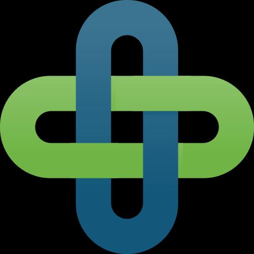 蓝色绿色交叉十字矢量logo
