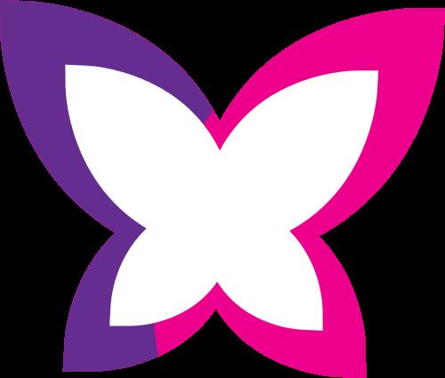 粉色紫色蝴蝶矢量logo