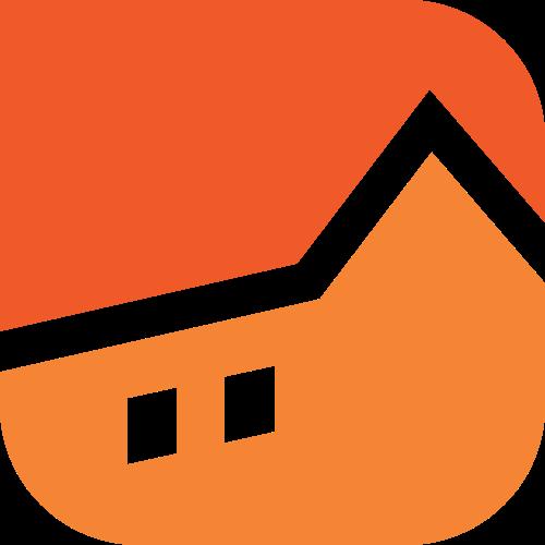 橙色房子矢量logo图标