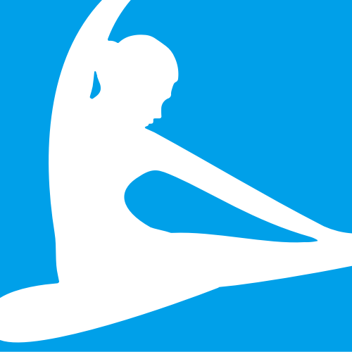 蓝色方块人体矢量logo元素