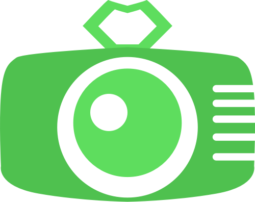 绿色相机矢量logo