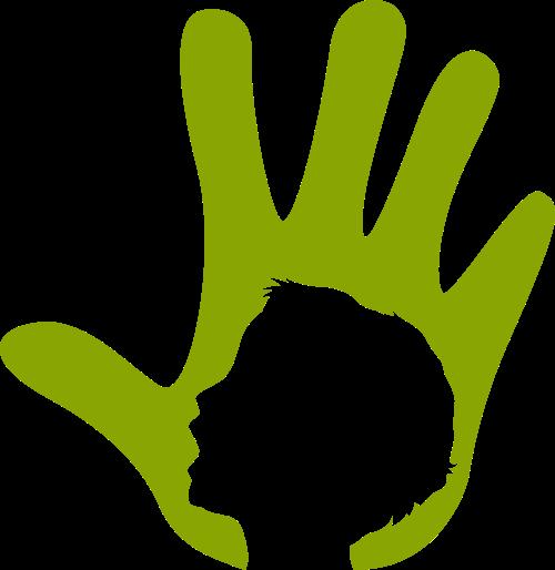 绿色手矢量logo元素