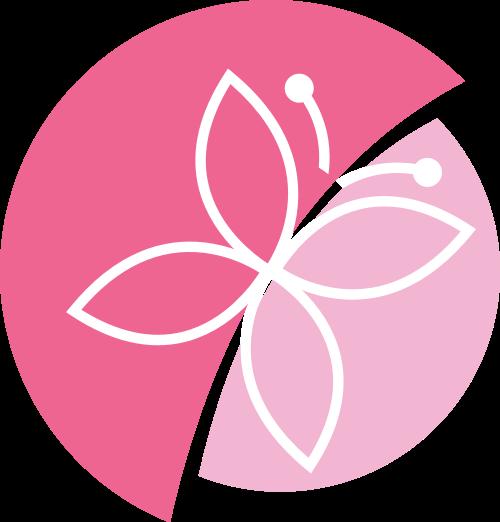 粉色蝴蝶矢量logo