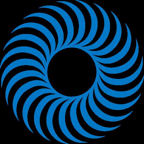蓝色圆环矢量logo图标