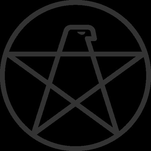 黑色鹰五角星矢量logo矢量logo