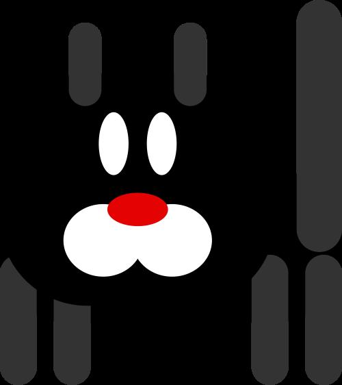 黑色小猫矢量logo元素
