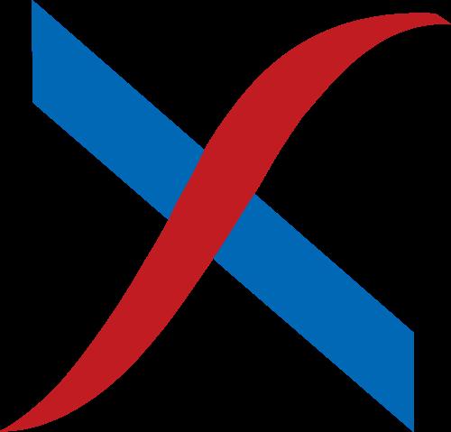 蓝色字母X矢量logo图标