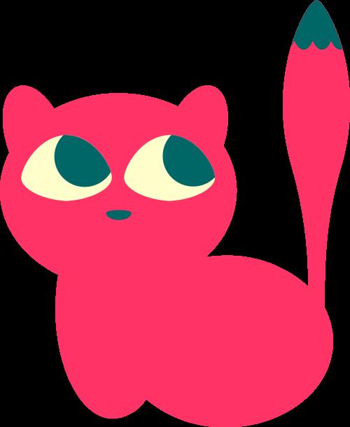 红色小猫矢量logo图标