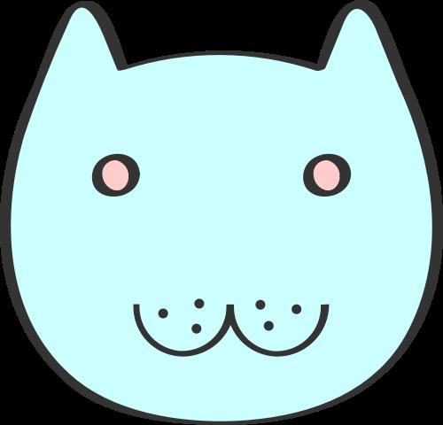 蓝色猫咪矢量logo元素