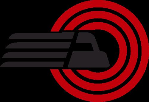 红色黑色货车矢量logo图标