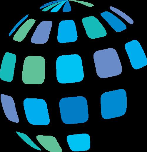彩色地球矢量logo图标