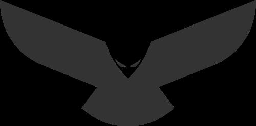 黑色鹰矢量logo元素
