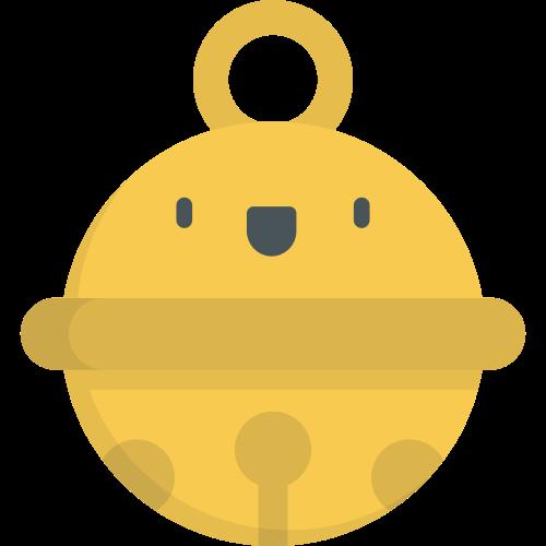 黄色铃铛矢量logo元素