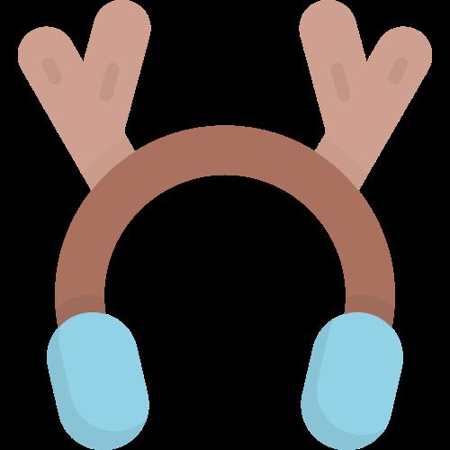 彩色鹿角耳包矢量logo元素矢量logo