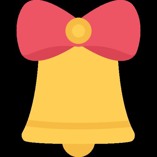 黄色铃铛矢量logo图标