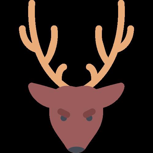 棕色麋鹿矢量logo元素矢量logo