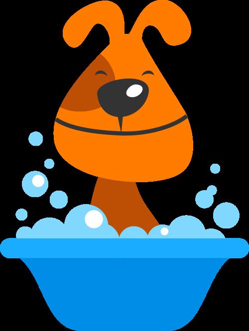 橙色卡通狗矢量logo矢量logo