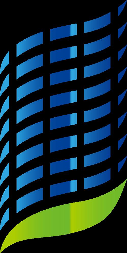 蓝绿色科技矢量logo元素