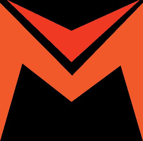 橙色字母M矢量logo元素