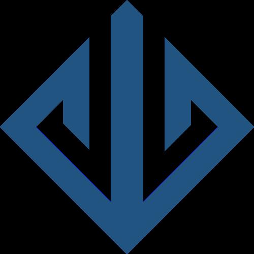 蓝色方形矢量logo元素