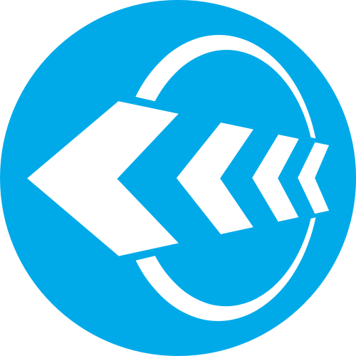 蓝色圆形箭头矢量logo