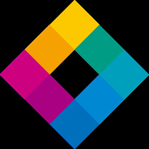 彩色菱形矢量logo元素