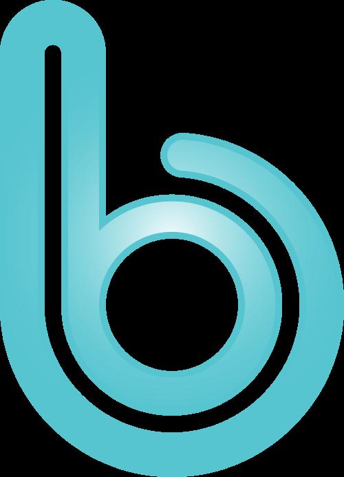 蓝色字母b矢量logo元素