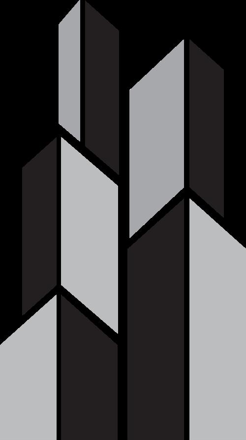 黑灰色建筑矢量logo图标