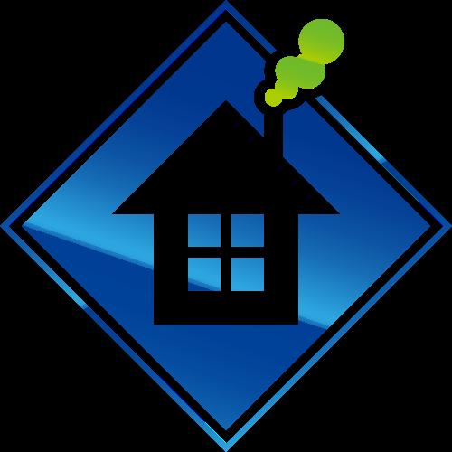 蓝绿色房子矢量logo元素矢量logo