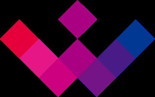 粉色蓝色艺术矢量logo