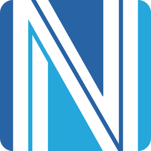 蓝色字母N矢量logo元素