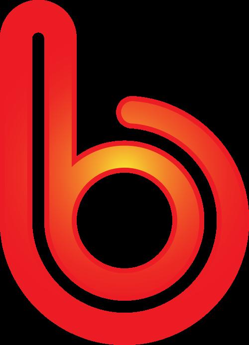 红色字母b矢量logo