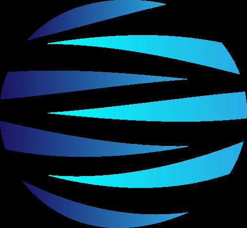 蓝色球体矢量logo元素