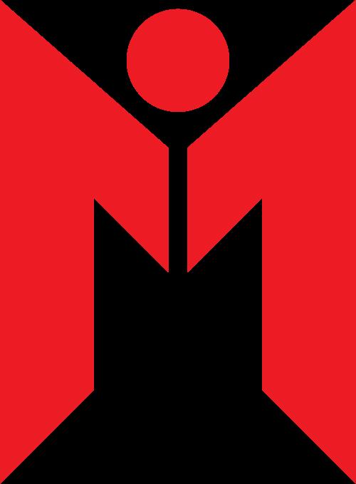 红色字母M矢量logo