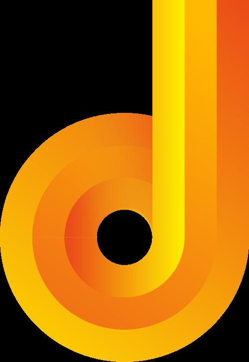 黄色字母d矢量logo图标