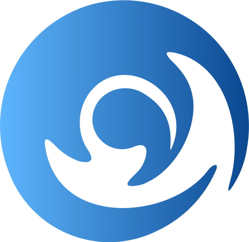 蓝色圆形科技矢量logo